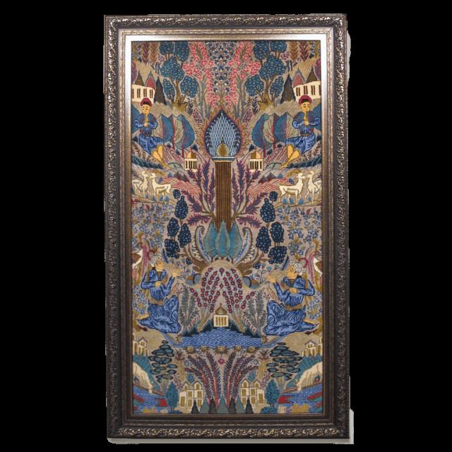 絵画・ペルシャ絨毯・カシュマール 127×223cm(FL-4018)