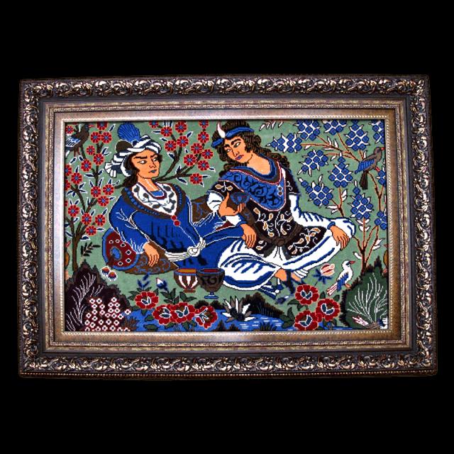 絵画・ペルシャ絨毯・カシュマール 122×91cm(FS-4059)