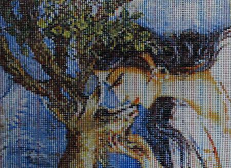 ペルシャ絨毯、タブリーズ産絵画じゅうたん