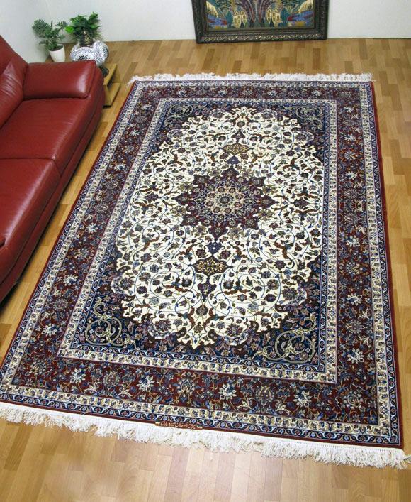 【3/10まで】ペルシャ絨毯スファハン・セーラフィアン 313×210cm(FX-75)