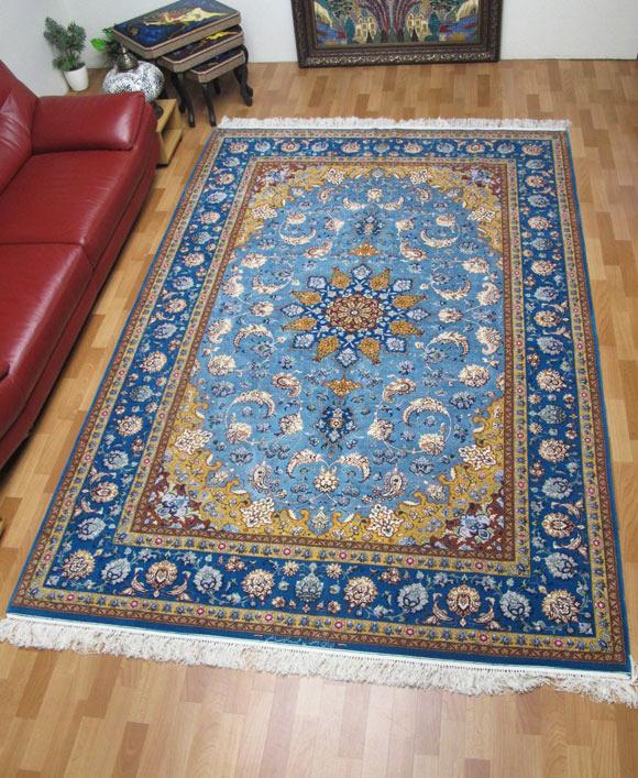 【3/10まで】ペルシャ絨毯スファハン・アブドルレザナッスル 309×202cm(FX-76)