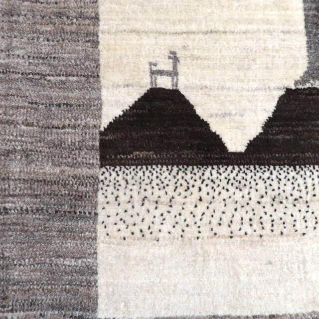 ホシナマイギャッベ(ルリバフ)・アクセントラグサイズ