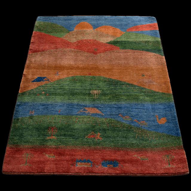 ギャッベ/シェカルー(ゾランヴァリ)細かめのしなやかな織 233×182cm(ZL-306)