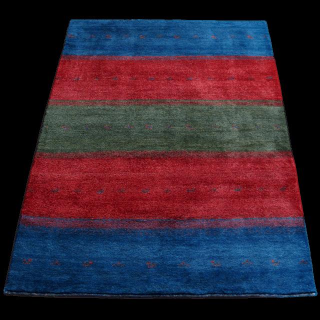 ギャッベ/シェカルー、細かめのしなやかな織 207×152cm(ZL-188)