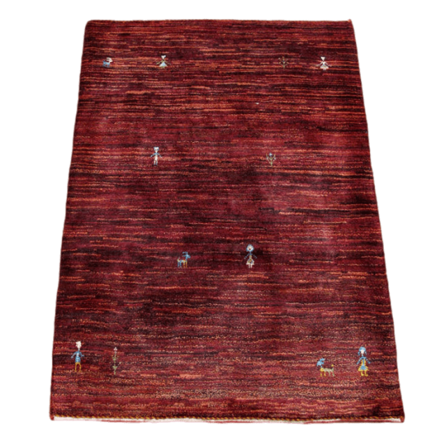 ギャッベ/アマレ、細かな上質ランク 117×83cm(ZS-1175)