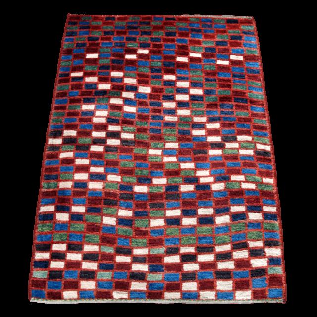 ギャッベ/アマレ、細かな上質ランク 124×88cm(ZS-1242)