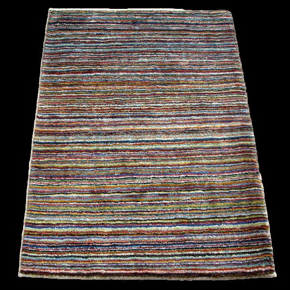 ギャッベ/シェカルー、細かめのしなやかな織 113×86cm(ZS-2128)