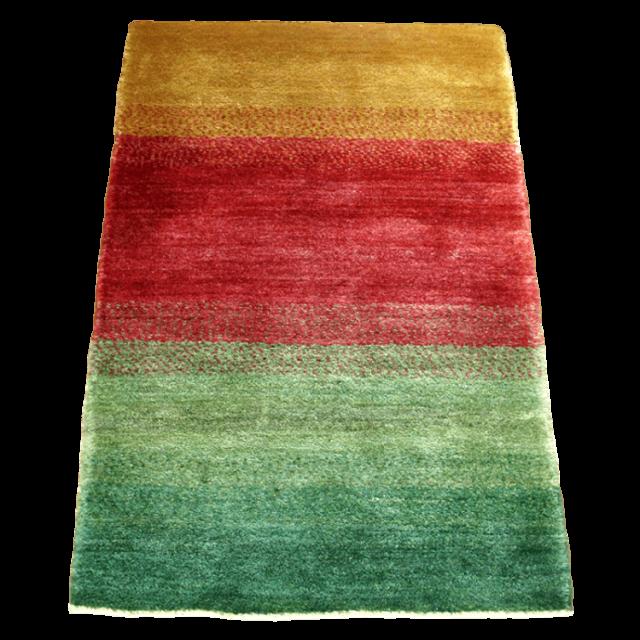 ギャッベ/シェカルー、細かめのしなやかな織 128×82cm(ZS-335)