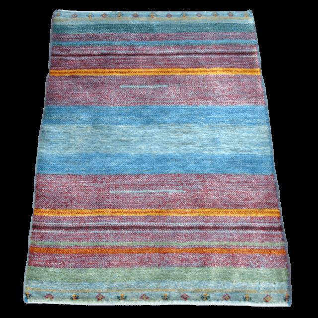ギャッベ/シェカルー、細かめのしなやかな織 115×81cm(ZS-336)