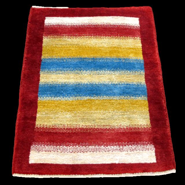 ギャッベ/シェカルー、細かめのしなやかな織 113×86cm(ZS-345)