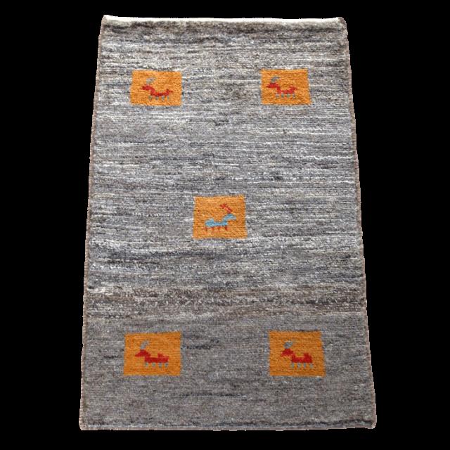 ギャッベ/アマレ、細かな上質ランク 87×57cm(ZSS-695)