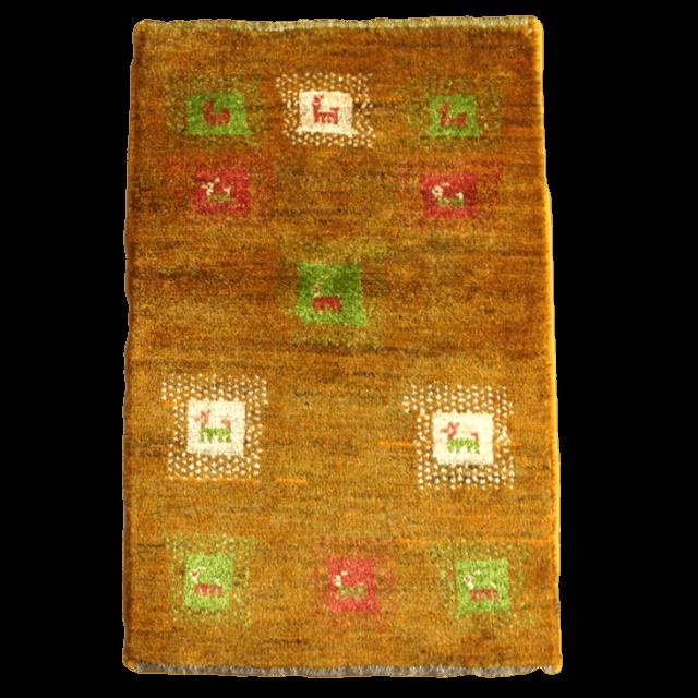 ギャッベ/アマレ、細かな上質ランク 86×56cm(ZSS-813)