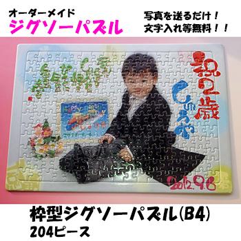 枠型ジグソーパズル(B4)  204ピース 3歳から4歳頃からの知育に