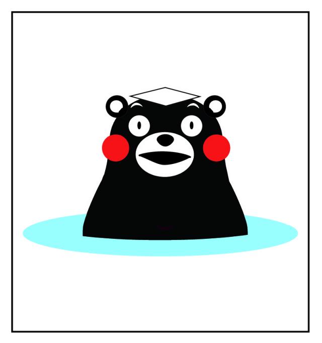 くまモンのよしこさん手作りDeCoシール角型温泉タイプ