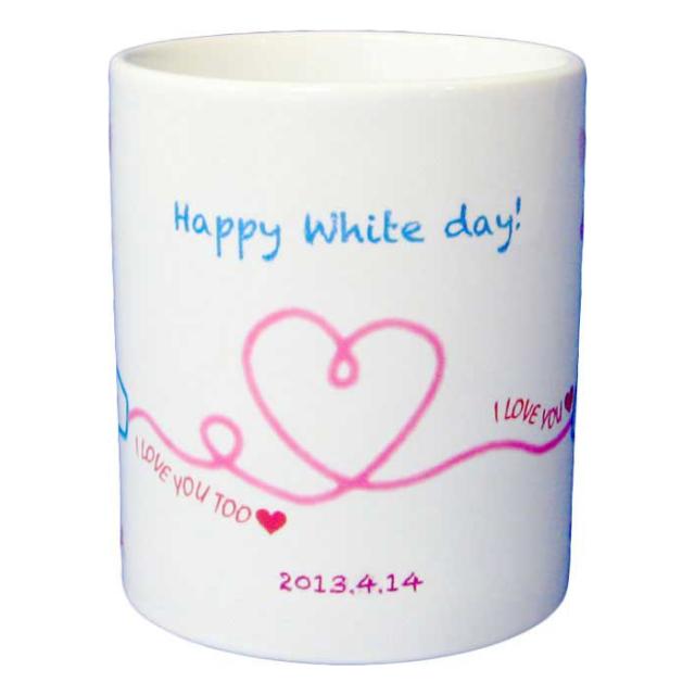 ホワイトデーマグカップ