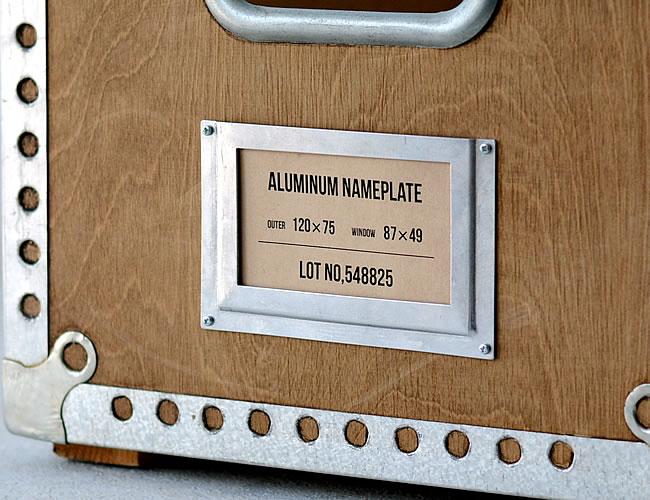 アルミニウム ネームプレート L  *