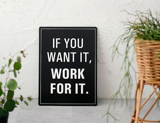 ウォールサイン WORK FOR IT