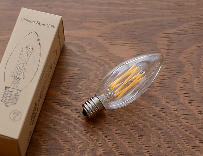 LED電球 E17 シャンデリア型 40W相当 調光対応