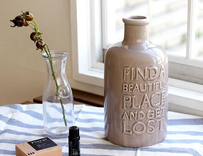 陶器製 アロマ加湿器 FINDA