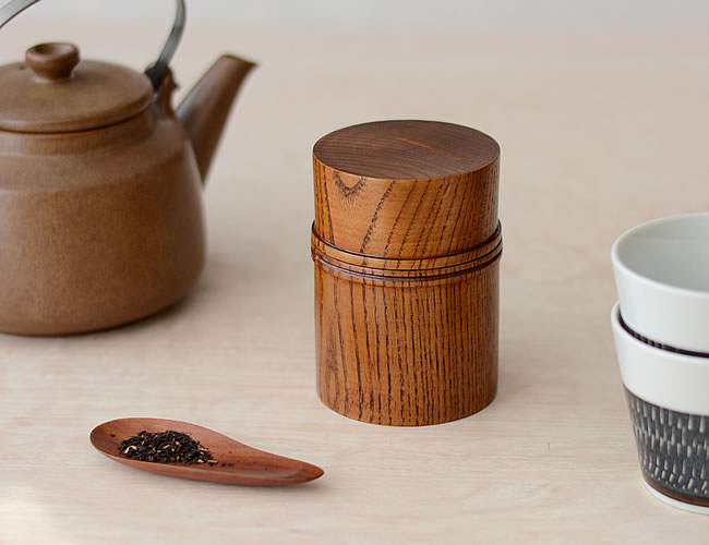 木製 茶筒