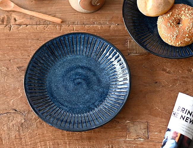 藍色十草 中皿