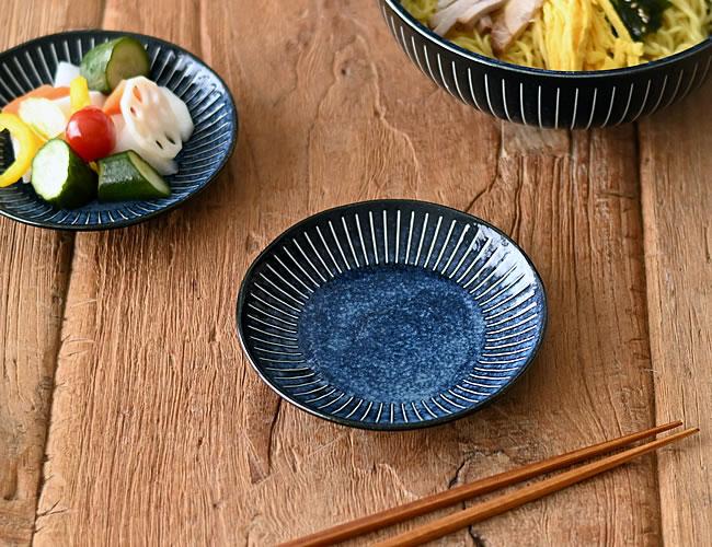 藍色十草 小皿