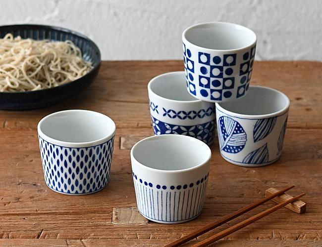 ブルーパターン ミニカップ