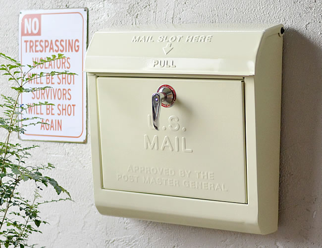 U.S. メールボックス クリーム