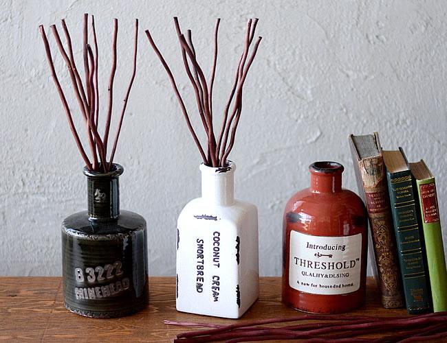 (SALE)陶器ボトル リードディフューザー L