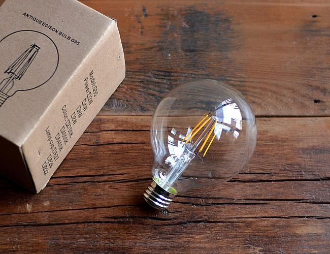 LED ビンテージバルブ ボール型M 40W相当