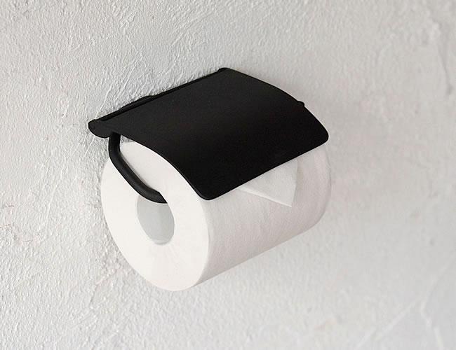 トイレットペーパーホルダー ブラック