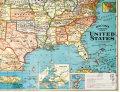 Cavallini & Co. ポスター USAマップ