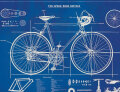Cavallini & Co. ポスター ブループリントバイク