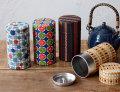 和柄の茶筒