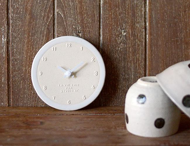 陶器の時計 白巻