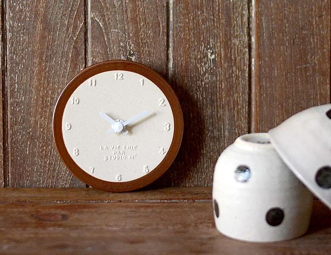 陶器の時計 サビ巻