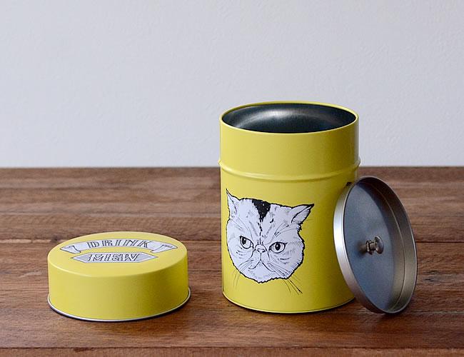 茶筒キャニスター 3匹のネコ