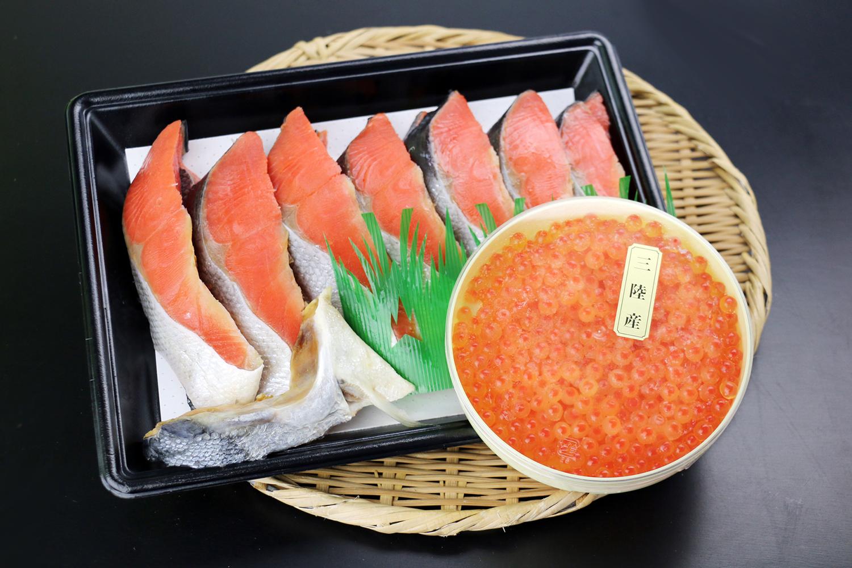 紅鮭といくらのセット