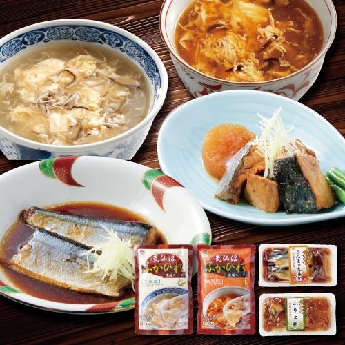 ふかひれスープと煮魚セット