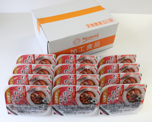 【M-250】箱売り!三陸食堂 たらと野菜の黒酢煮(120g×12パック入)