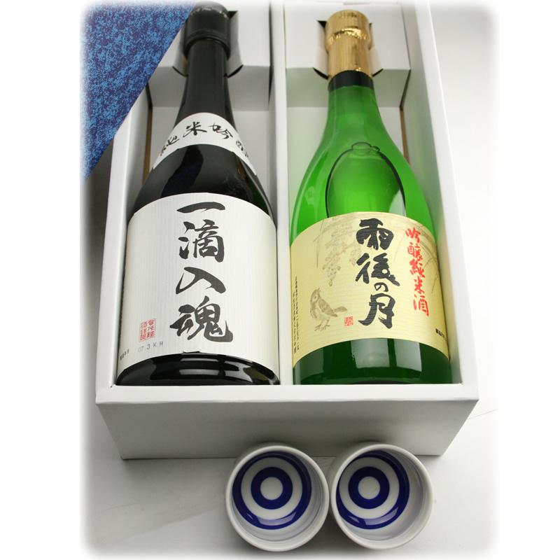広島銘酒 雨後の月・賀茂鶴 純米吟醸 飲み比べギフトセット 720ml