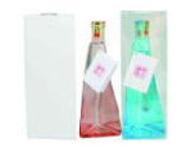 オリジナルラベル 三角ドレス瓶 クリアカートン入り 純米酒 300ml 24本