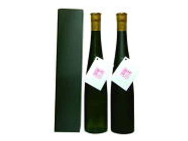オリジナルラベル スリム瓶 クリアカートン入り 純米酒 375ml 24本 (黒)