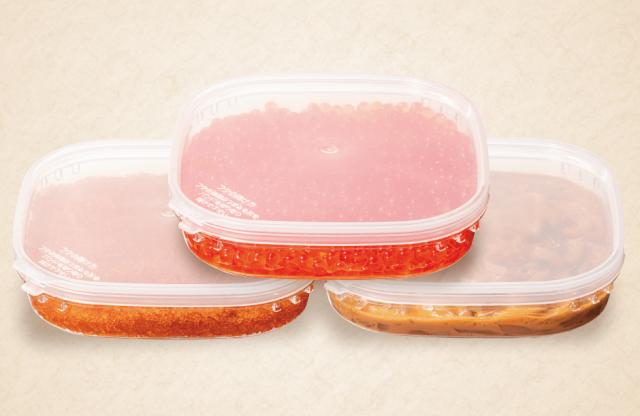 【送料無料】北海道産いくら・とびうお卵・いかの肝和えセット