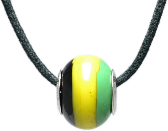 バレンティナビーズ&925シルバー ジャマイカカラー ネックレス付き