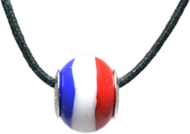 バレンティナビーズ&925シルバー フランスカラー ネックレス付き
