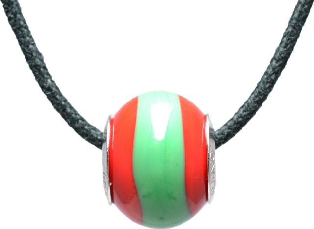 バレンティナビーズ&925シルバー ポルトガルカラー ネックレス付き