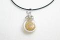 ムラーノグラスペンダント 小瓶型ペンダントトップ(サークル) ゴールド ネックレス付き