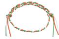 イタリア製コットン ブレスレット&アンクレット 金具なし調節可能タイプ アイルランドカラー