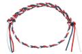 イタリア製コットン ブレスレット&アンクレット 金具なし調節可能タイプ アメリカカラー
